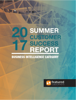 2017 Summer Customer Success Report