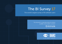 Entrinsik in the BARC BI Survey 17