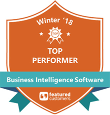 2018 Top Performer Award from Business Intelligence Software